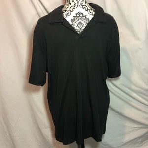 Men's Perry Ellis Black V Neck Shirt.